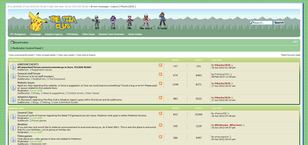 A screenshot of our new forum layout.